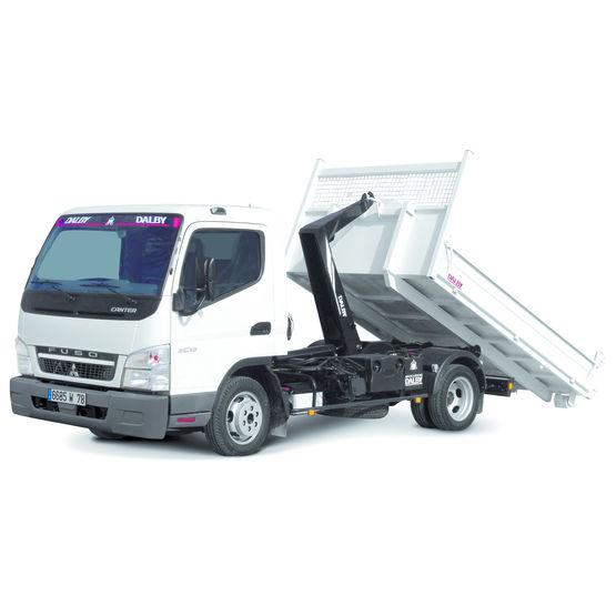 camion caisson amovible avec bras de d pose levage mitsubishi fuso. Black Bedroom Furniture Sets. Home Design Ideas