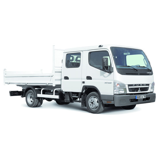 camion benne avec cabine double 6 places canter double cabine fuso. Black Bedroom Furniture Sets. Home Design Ideas