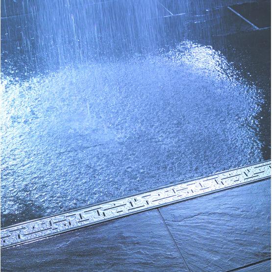 Caniveau de douche inox ou carreler tece for Caniveau a pente integree
