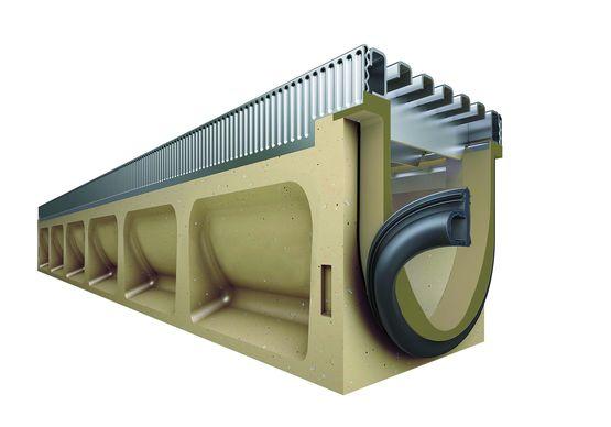 caniveau en b ton polym re grille tanche pour l am nagement urbain. Black Bedroom Furniture Sets. Home Design Ideas