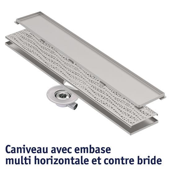 Caniveau en inox pour douche individuelle ou l 39 italienne multi bl cher - Caniveau pour douche a l italienne ...