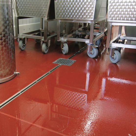 Caniveau inox fente ou grille pour drainage int rieur batiproduits - Caniveau inox salle de bain ...