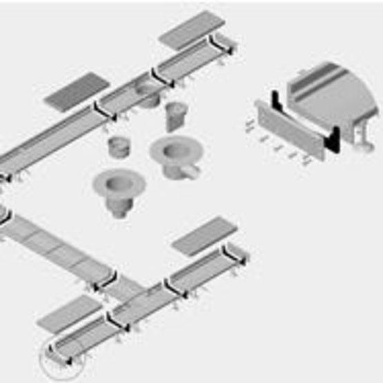 Caniveau inox fente ou grille pour drainage int rieur for Caniveau inox exterieur