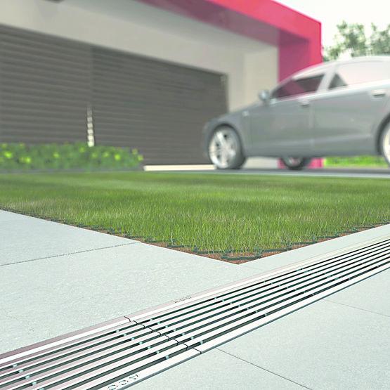 Caniveaux drainage lin aire a15 b125 pour jardins et for Caniveau invisible pour terrasse