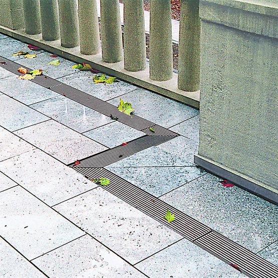 Caniveaux De Terrasse Pour Drainage En Acier Galvanisé Aussi Pour Les  Toitures, Les Façades Et Les Toitures Plates Ou Végétalisées | ACO Profiline