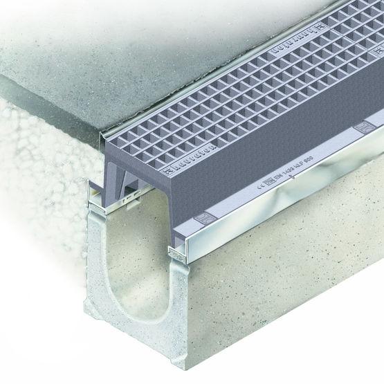 caniveaux en b ton fibr grilles et charge jusqu 39 600 kn faserfix traffic gg bloc hauraton. Black Bedroom Furniture Sets. Home Design Ideas