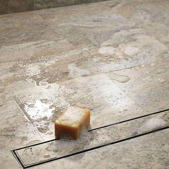caniveau pour douche l 39 italienne aco showerdrain luxe batiproduits. Black Bedroom Furniture Sets. Home Design Ideas