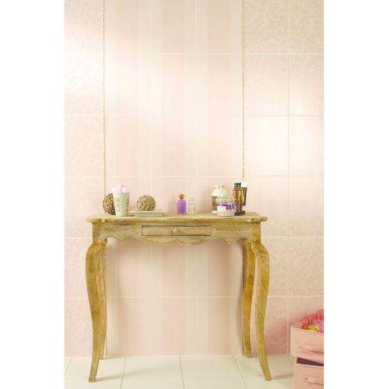 carreaux de fa ence s rigraphi s aux couleurs pastel. Black Bedroom Furniture Sets. Home Design Ideas
