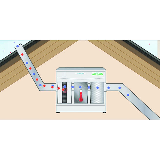 centrale de traitement bio d contaminant de l 39 air int rieur de l 39 habitat airasec inno 39 vision. Black Bedroom Furniture Sets. Home Design Ideas