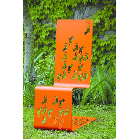 Chaise de jardin en m tal pli d coup au laser set on id fer stcm - Chaise de jardin en metal ...