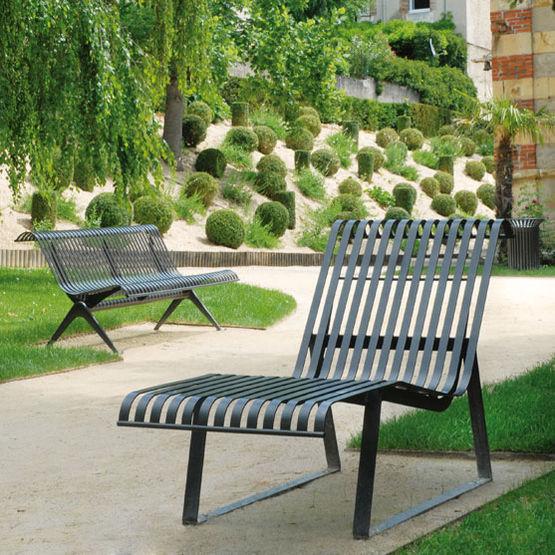 chaise longue acier
