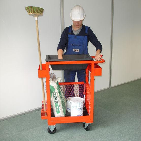 chariot ergonomique de travail pour pr paration et stockage chariot finisseur anoxa. Black Bedroom Furniture Sets. Home Design Ideas