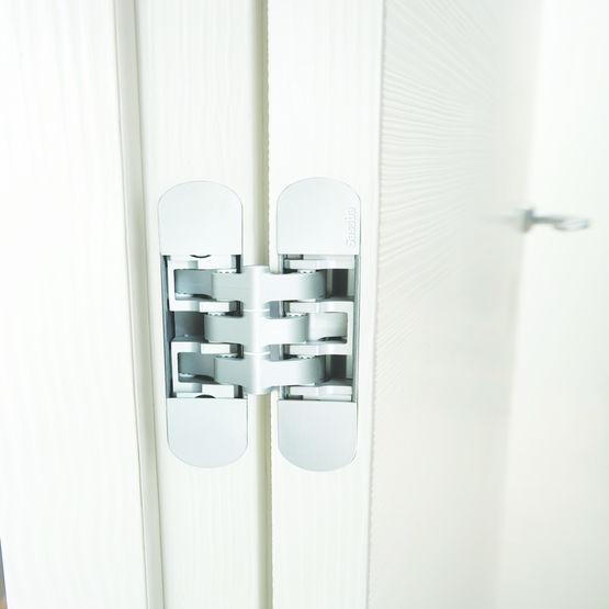 charni re invisible pour portes int rieures w tec 3d. Black Bedroom Furniture Sets. Home Design Ideas