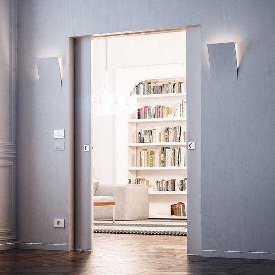 ch ssis de porte coulissante compatible prises et interrupteurs eclisse. Black Bedroom Furniture Sets. Home Design Ideas