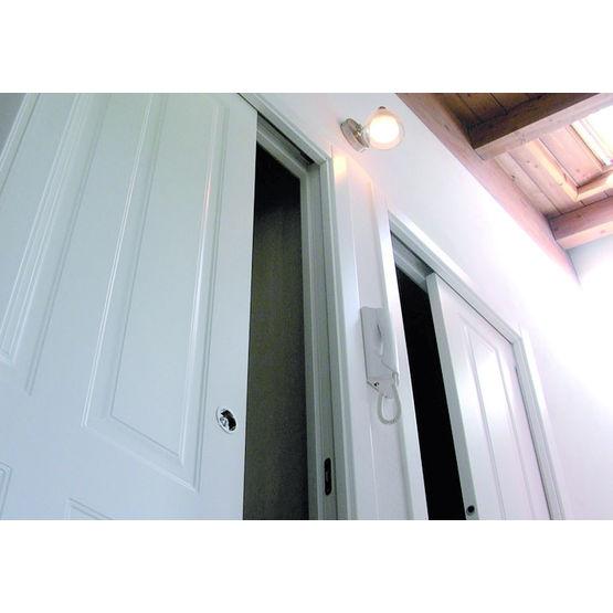 ch ssis pour porte coulissante deux vantaux orchidea vantail double fibrotubi orchidea. Black Bedroom Furniture Sets. Home Design Ideas