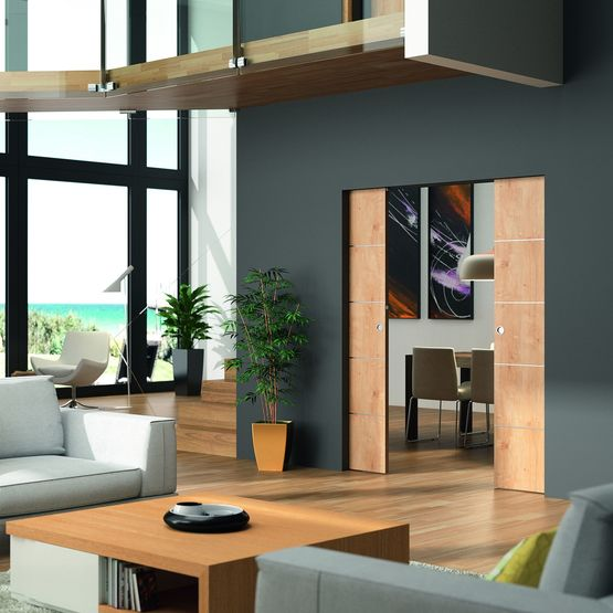 ch ssis pour porte coulissante galandage affleurante sans risque de fissure epure edac deya. Black Bedroom Furniture Sets. Home Design Ideas
