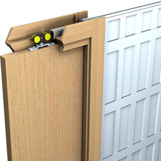 Saf inside ch ssis pour porte coulissante dans cloison batiproduits - Porte coulissante encastrable dans cloison ...