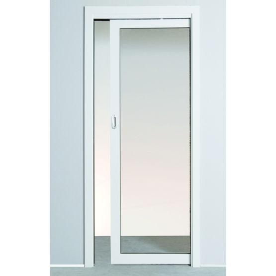 Ch ssis pr mont pour porte galandage en bois ou vitr for Porte interieur alu vitree