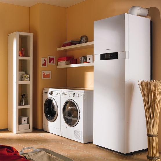 chaudi re gaz condensation avec ballon d 39 ecs solaire int gr vitodens 242 f viessmann. Black Bedroom Furniture Sets. Home Design Ideas