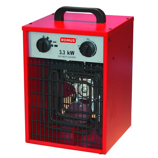 red hot 3 3 kw chauffage soufflant de chantier pour. Black Bedroom Furniture Sets. Home Design Ideas