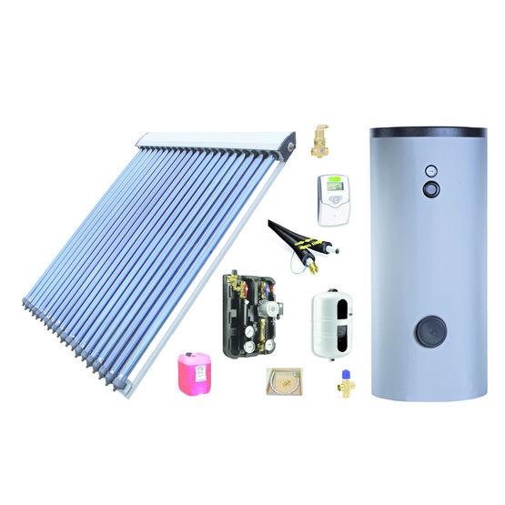 chauffe eau solaire avec capteurs tubes sous vide pack. Black Bedroom Furniture Sets. Home Design Ideas