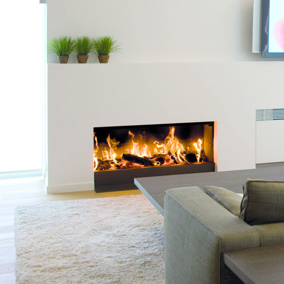 Cheminee A Bois A Large Foyer Luna 1300 H Gold M Design Best Fires