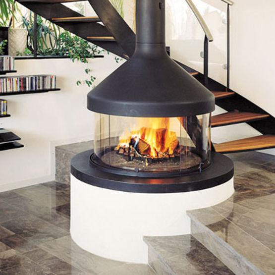 chemin e centrale enti rement vitr e chemin es focus. Black Bedroom Furniture Sets. Home Design Ideas