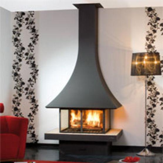 chemin e murale foyer vitr julietta 985 murale vitr e. Black Bedroom Furniture Sets. Home Design Ideas