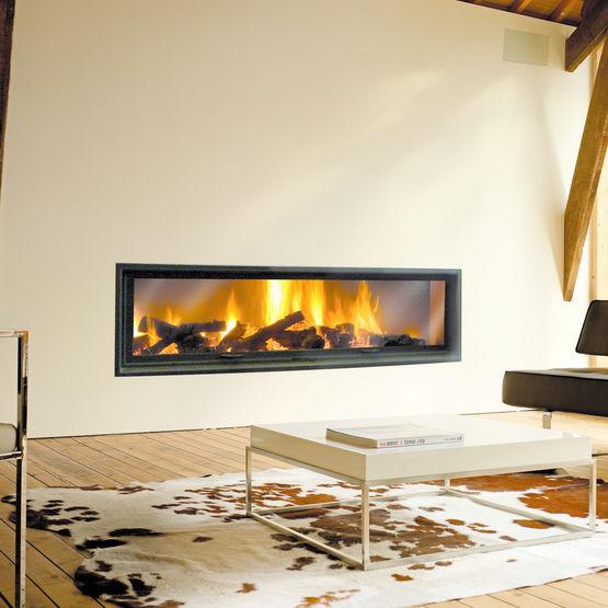 chemin e rectangulaire encastr e foyer ferm gigafocus chemin es focus. Black Bedroom Furniture Sets. Home Design Ideas