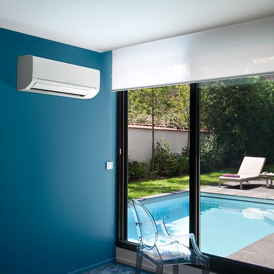 Climatiseur r versible mural jusqu 39 6 kw de puissance for Climatiseur reversible monobloc mural