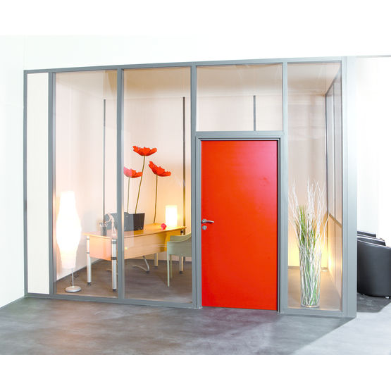 cloison coupe feu ossature aluminium d montable hf 10. Black Bedroom Furniture Sets. Home Design Ideas