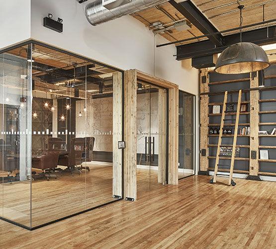 cloison vitr e ossature aluminium affin e h transparence hoyez partitionsystems. Black Bedroom Furniture Sets. Home Design Ideas