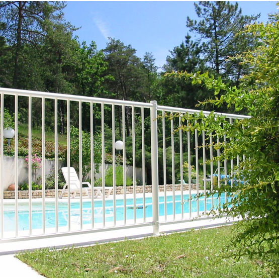 Cl ture de piscine en aluminium plastifi lippi for Cloture aluminium pour piscine