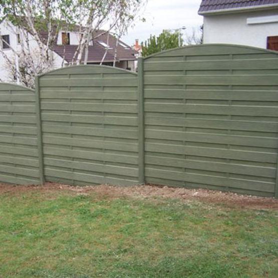 Cl ture double face lames ou panneaux en b ton imitation bois cl tures nicolas for Construction en bois ou beton
