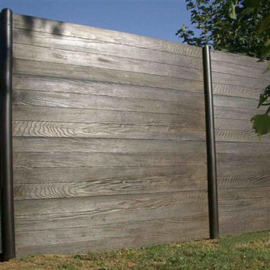 cl ture double face lames ou panneaux en b ton imitation bois gamme modula cl tures nicolas. Black Bedroom Furniture Sets. Home Design Ideas
