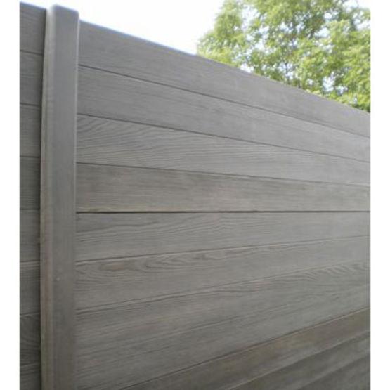 Cl ture double face lames ou panneaux en b ton imitation bois gamme modula cl tures nicolas - Garage beton imitation bois ...
