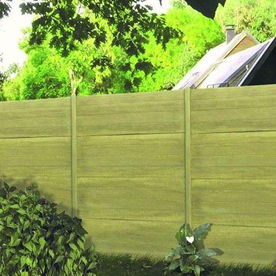 cl ture en lames ou panneaux b ton teint dans la masse aspect bois sibella cl tures nicolas. Black Bedroom Furniture Sets. Home Design Ideas