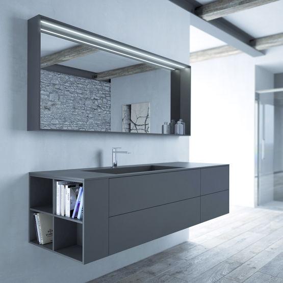 collection de meubles pour salle de bains aux formes épurées ... - Idea Groupe Salle De Bain