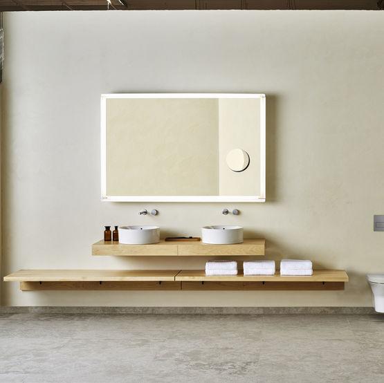 Porcelanosa tono collection de salle de bains batiproduits for Salle de bain en pierre et bois
