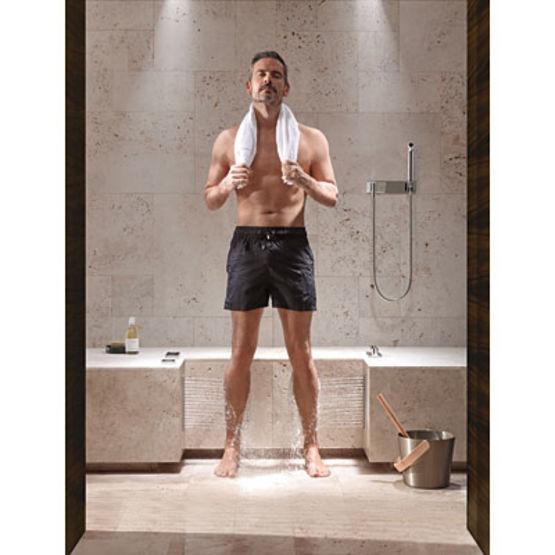 Colonne de douche avec si ge pour d tente comfort shower - Douche italienne avec assise ...