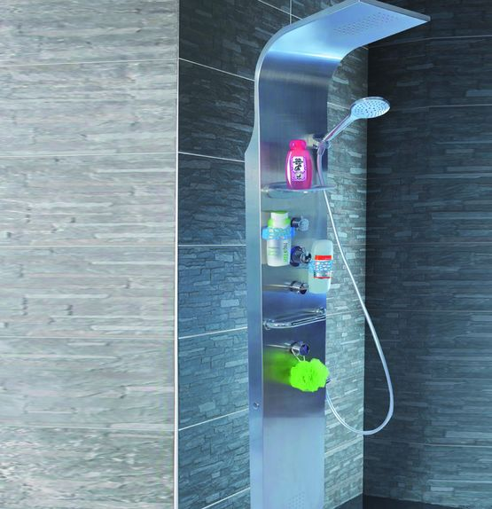 Colonne de douche magn tique en acier inoxydable rain - Colonne de douche exterieur ...