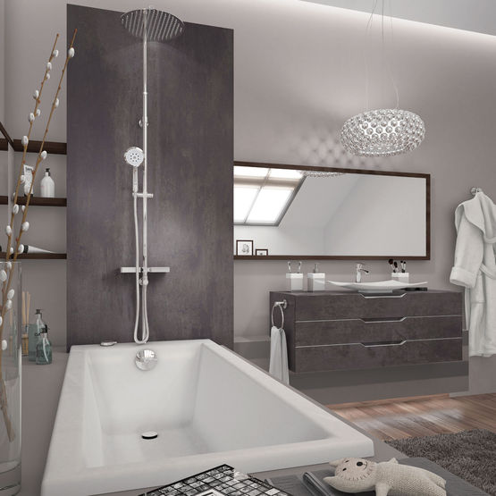 combin de douche poser sur gorge de baignoire comodo. Black Bedroom Furniture Sets. Home Design Ideas