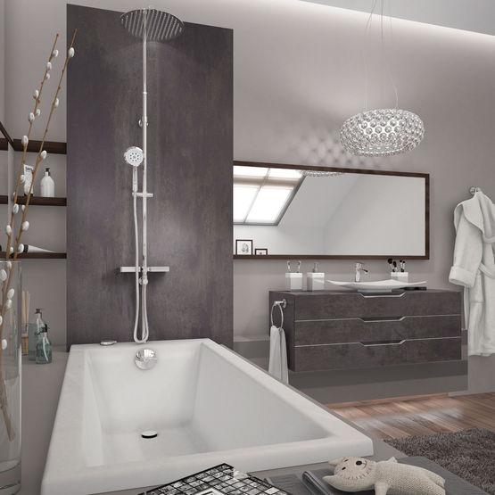 Combin de douche poser sur gorge de baignoire comodo - Robinetterie sur gorge pour baignoire ...