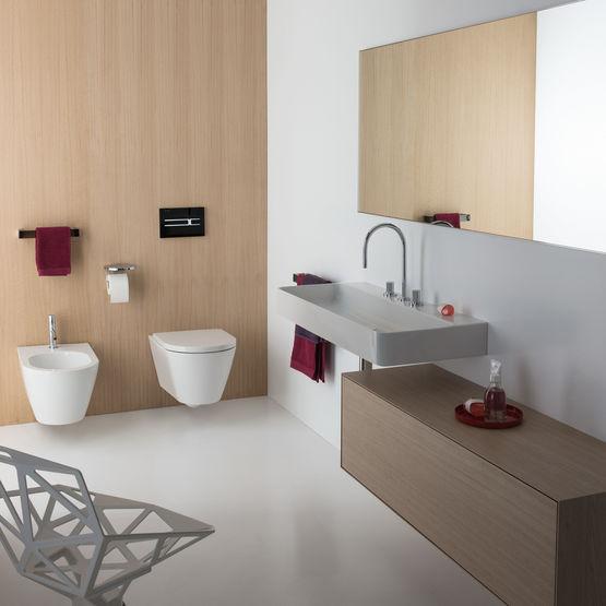 composition de lavabo meuble et miroir pour salle de bains compo 24 laufen. Black Bedroom Furniture Sets. Home Design Ideas