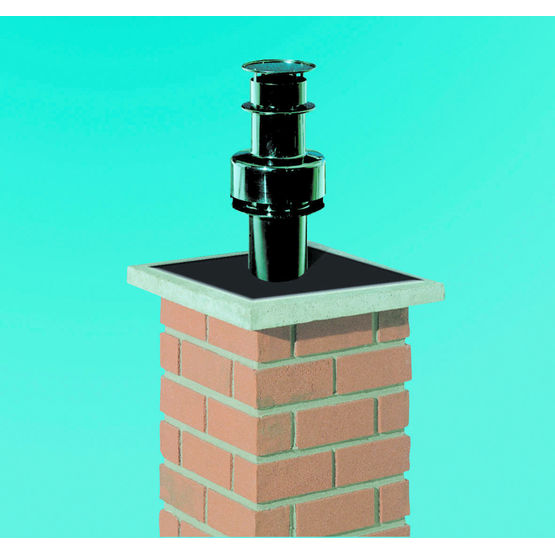 Conduits pour chaudi re condensation en r novation for Chapeau pour cheminee exterieur