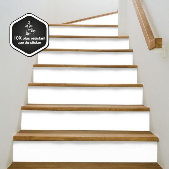 Contremarche d'escalier décorative en plusieurs coloris et prête à poser |  Contremarche unie