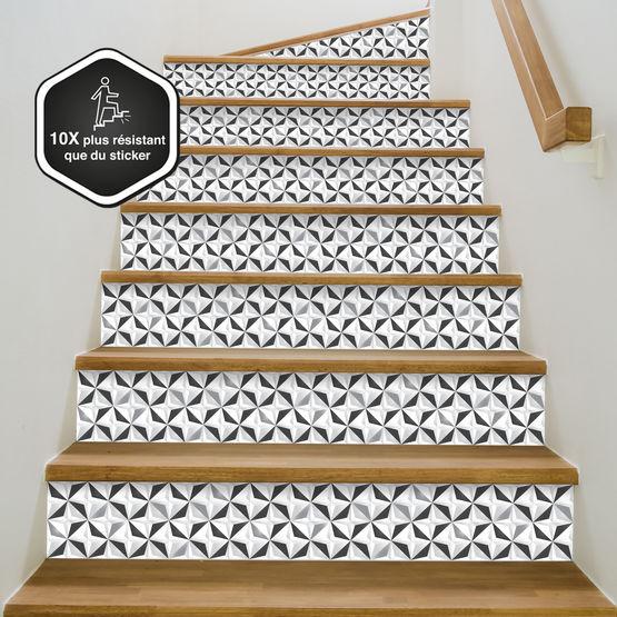 Contremarche D Escalier Décorative Prête à Poser Graphique Plusieurs Modèles Disponibles