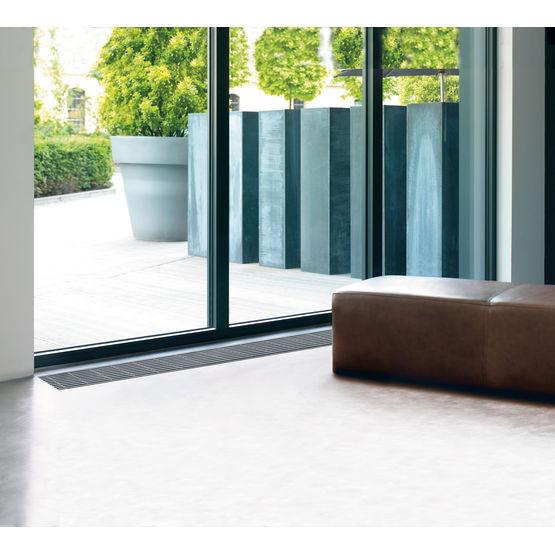 convecteur encastr au sol pour chauffage eau chaude terraline zehnder. Black Bedroom Furniture Sets. Home Design Ideas