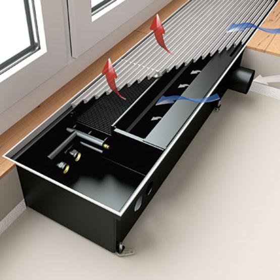 convecteur sous plancher pour chauffage rafra chissement et ventilation kermi. Black Bedroom Furniture Sets. Home Design Ideas
