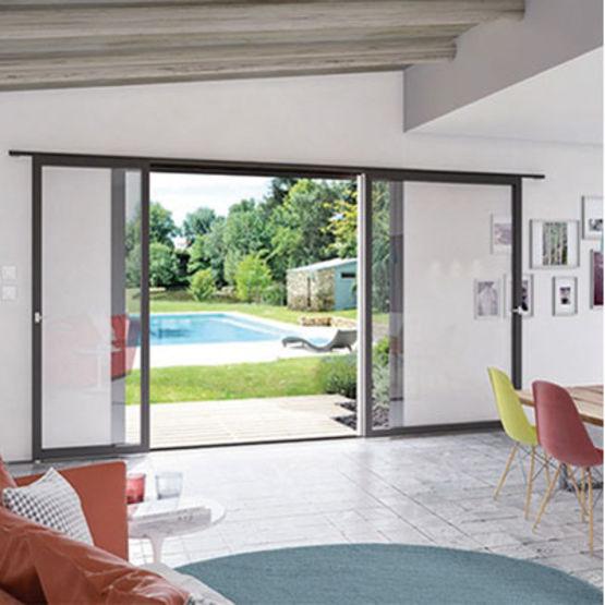 coulissant mural simple ou double sp cial r novation millet portes fen tres. Black Bedroom Furniture Sets. Home Design Ideas